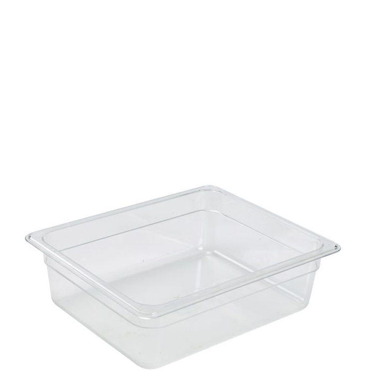 Genware 1/2-Polycarbonate GN Pan 200mm Clear - Kitchenware